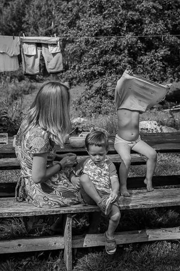 Perefotograaf, Pere dokumentaal, Perefotod, Pildistamine kodus